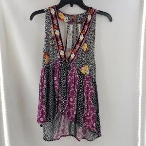 FREE PEOPLE Sleeveless Halter Style High Low Top S